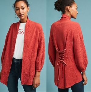 Anthropologie Tla Corset Back Cardigan
